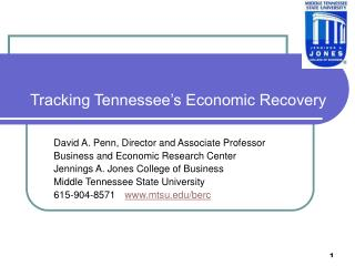 Tracking Tennessee's Economic Recovery