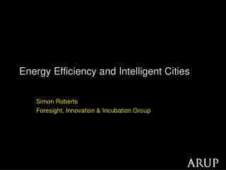 Energy Efficiency and Intelligent Cities