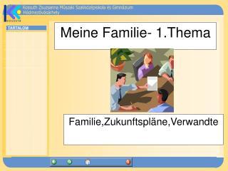 Meine Familie- 1.Thema