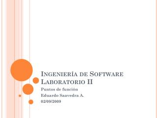 Ingeniería de Software Laboratorio II