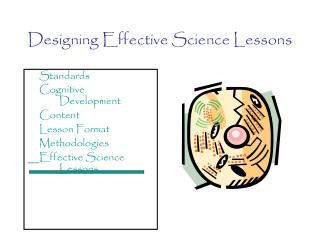 Designing Effective Science Lessons