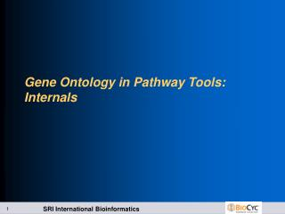 Gene Ontology in Pathway Tools: Internals