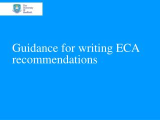 Guidance for writing ECA recommendations
