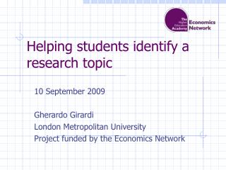 Helping students identify a research topic