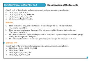Classify each of the following surfactants as anionic, cationic, nonionic, or amphoteric.