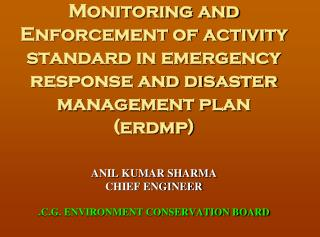 EMERGENCY RESPONSE AND DISASTER MANAGEMENT PLAN