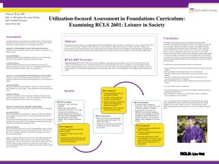 Utilization-focused Assessment in Foundations Curriculum: Examining RCLS 2601: Leisure in Society
