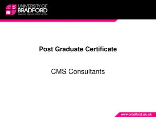 Post Graduate Certificate