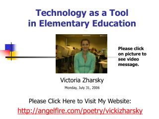Technology as a Tool  in Elementary Education