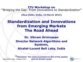 Standardization and Innovations  from Emerging Markets The Road Ahead