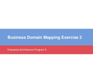 Business  Domain Mapping Exercise  2