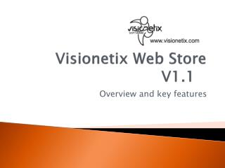 Visionetix Web Store  V1.1