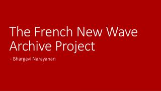 The French New Wave Archive Project