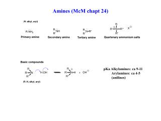 Amines (McM chapt 24)