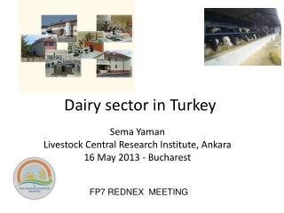 Dairy sector  in  Turkey