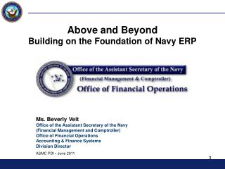 Above and Beyond Building on the Foundation of Navy ERP
