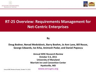 RT-25 Overview: Requirements Management for Net-Centric Enterprises