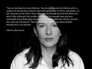 Marina Abramovi ć