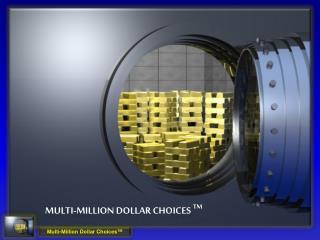 Multi-Million dollar choices  TM