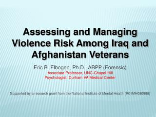Assessing and Managing Violence Risk Among Iraq and