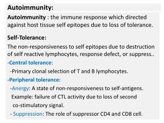 Autoimmunity: