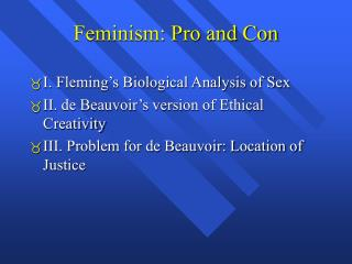 Feminism: Pro and Con