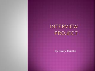 Interview Project