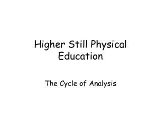 Higher Still Physical Education