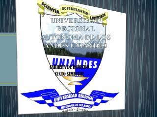 UNIVERSIDAD REGIONAL AUTONOMA DE LOS ANDES UNIANDES