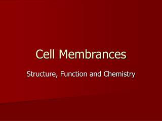 Cell Membrances