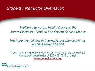 Student / Instructor Orientation