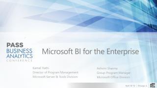 Microsoft BI for the Enterprise