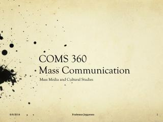 COMS 360 Mass Communication