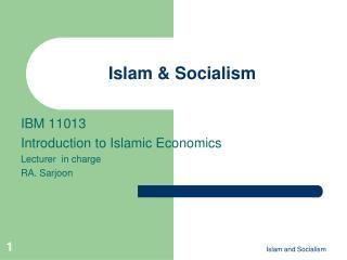 Islam & Socialism