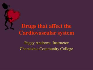 Drugs that affect the Cardiovascular system