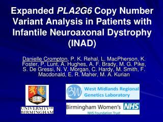 Phospholipase associated neurodegeneration (PLAN)