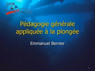 Pédagogie générale appliquée à la plongée