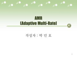 AMR (Adaptive Multi-Rate]