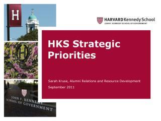 HKS Strategic Priorities