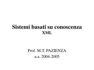 Sistemi basati su conoscenza XML