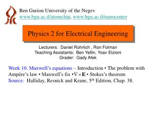 Physics 2 for Electrical Engineering