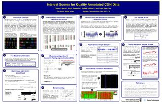Interval Scores for Quality Annotated CGH Data