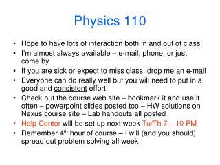 Physics 110