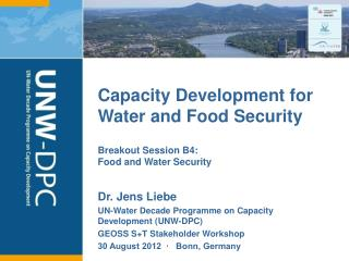 Capacity Development for Water and Food Security