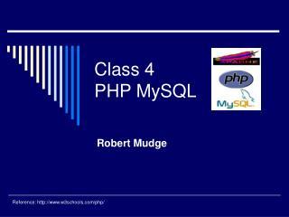 Class 4 PHP MySQL