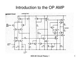 Introduction to the OP AMP