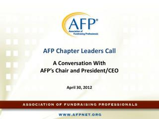 AFP Chapter Leaders Call