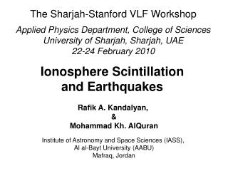 Ionosphere Scintillation  and Earthquakes