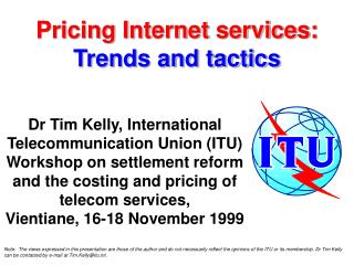 Pricing Internet services:  Trends and tactics