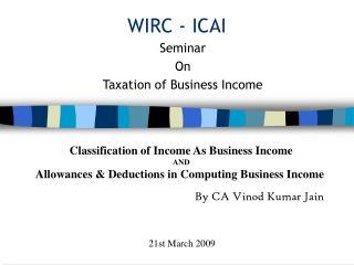 WIRC - ICAI
